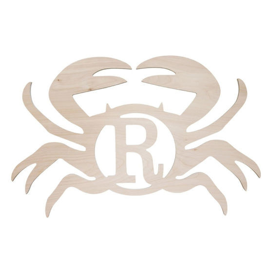 Sea Critters Wood Monogram - Crab