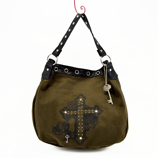 Studded Cross Messenger Bag