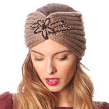 C.C Exclusives Embellished Knitted Headwrap