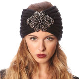 C.C Exclusives Embellished Ribbed Headwrap