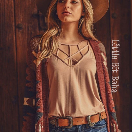 Strappy Layering Tank in Rose Taupe