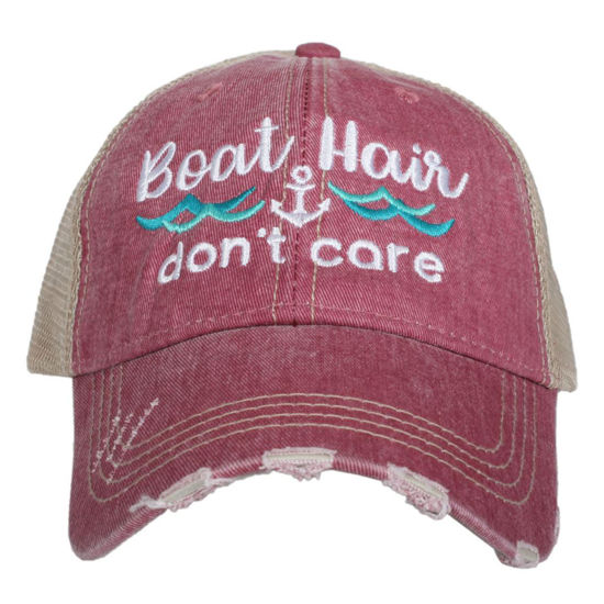 Boat Hair Don't Care Trucker Hat (Waves)
