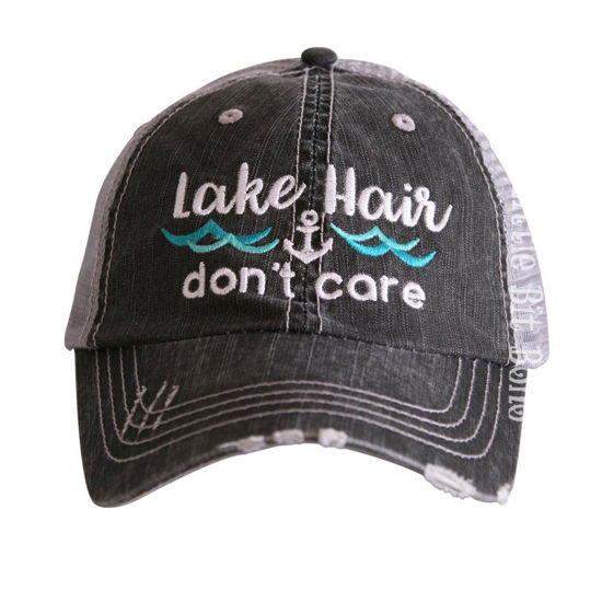 Picture of Lake Hair Don't Care Trucker Hat (Waves)